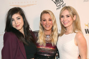 Actress Briana Cuoco, Paw Works Celebrity Ambassador/Board Member Kaley Cuoco and actress Ashley Jones attend the James Paw 007 Ties & Tails Gala at the Four Seasons Westlake Village on March 10, 2018 in Westlake Village, California.