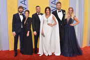 (L-R) Dave Haywood, Kelli Cashiola, Chris Tyrrell, Hillary Scott, Charles Kelley, and Cassie McConnell attend the 50th annual CMA Awards at the Bridgestone Arena on November 2, 2016 in Nashville, Tennessee.