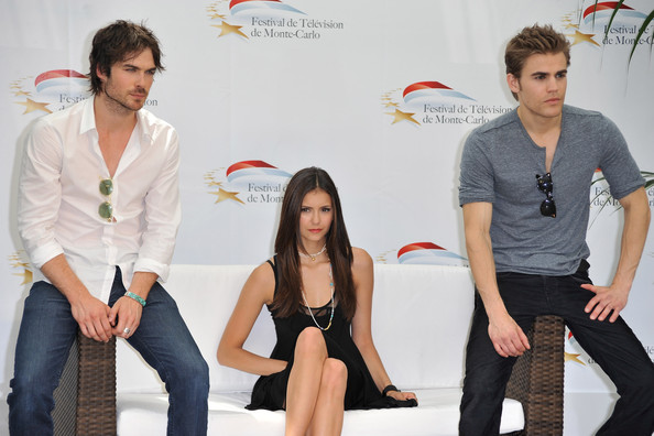 Nina Dobrev Paul Wesley (R), Nina Dobrev (C) and Ian Somerhalder (L) attend a photocall for the TV series 'THE VAMPIRE DIARIES' during the 2010 Monte Carlo Television Festival held at Grimaldi Forum on June 8, 2010 in Monte-Carlo, Monaco.