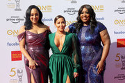 (L-R) Tamera Mowry-Housley, Adrienne Bailon, and Loni Love attend the 50th NAACP Image Awards at Dolby Theatre on March 30, 2019 in Hollywood, California.