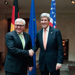 Frank-Walter Steinmeier and John F. Kerry Photos