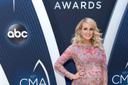 (FOR EDITORIAL USE ONLY) Singer-songwriter Carrie Underwood attends the 52nd annual CMA Awards at the Bridgestone Arena on November 14, 2018 in Nashville, Tennessee.