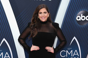 (FOR EDITORIAL USE ONLY) Hillary Scott of musical group Lady Antebellum attends the 52nd annual CMA Awards at the Bridgestone Arena on November 14, 2018 in Nashville, Tennessee.