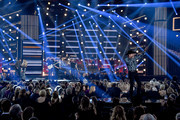(FOR EDITORIAL USE ONLY) (L-R)  Jon Pardi performs onstage during the 52nd annual CMA Awards at the Bridgestone Arena on November 14, 2018 in Nashville, Tennessee.