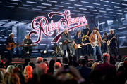 (FOR EDITORIAL USE ONLY) Ricky Skaggs, Keith Urban and John Osborne perform onstage during the 52nd annual CMA Awards at the Bridgestone Arena on November 14, 2018 in Nashville, Tennessee.