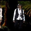 She performs at the Grammys with Usher and Celine Dion.
