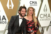 (FOR EDITORIAL USE ONLY) (L-R) Willa Gray Akins, Thomas Rhett, Ada James Akins and Lauren Akins attend the 53rd annual CMA Awards at the Music City Center on November 13, 2019 in Nashville, Tennessee.