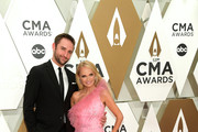 (FOR EDITORIAL USE ONLY) Josh Bryant and Kristin Chenoweth attend the 53rd annual CMA Awards at the Music City Center on November 13, 2019 in Nashville, Tennessee.
