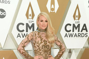 (FOR EDITORIAL USE ONLY)  Carrie Underwood attends the 53rd annual CMA Awards at the Music City Center on November 13, 2019 in Nashville, Tennessee.