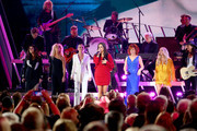 (FOR EDITORIAL USE ONLY)  (L-R) Karen Fairchild and Kimberly Schlapman of Little Big Town, Jennifer Nettles, Sara Evans, Reba McEntire and Carrie Underwood perform onstage during the 53rd annual CMA Awards at the Bridgestone Arena on November 13, 2019 in Nashville, Tennessee.