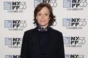 "Actress Sigourney Weaver attends the 53rd New York Film Festival premiere of ""Ingrid Bergman In Her Own Words"" at The Film Society of Lincoln Center, Walter Reade Theatre on October 5, 2015 in New York City."