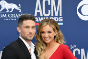 Michael Ray (L) and Carly Pearce attend the 54th Academy Of Country Music Awards at MGM Grand Hotel & Casino on April 07, 2019 in Las Vegas, Nevada.