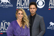 (L-R) Kasi Williams and Chuck Wicks attend the 54th Academy Of Country Music Awards at MGM Grand Hotel & Casino on April 07, 2019 in Las Vegas, Nevada.