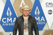 (FOR EDITORIAL USE ONLY) Jason Aldean attends the 54th annual CMA Awards at the Music City Center on November 11, 2020 in Nashville, Tennessee.