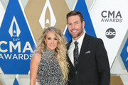 (FOR EDITORIAL USE ONLY) Carrie Underwood and Mike Fisher attend the 54th annual CMA Awards at the Music City Center on November 11, 2020 in Nashville, Tennessee.
