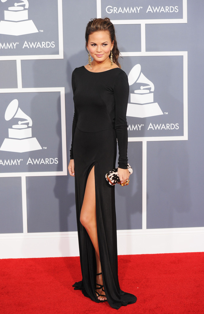 Model Christine Teigen arrives at the 54th Annual GRAMMY Awards held at Staples Center on February 12, 2012 in Los Angeles, California.