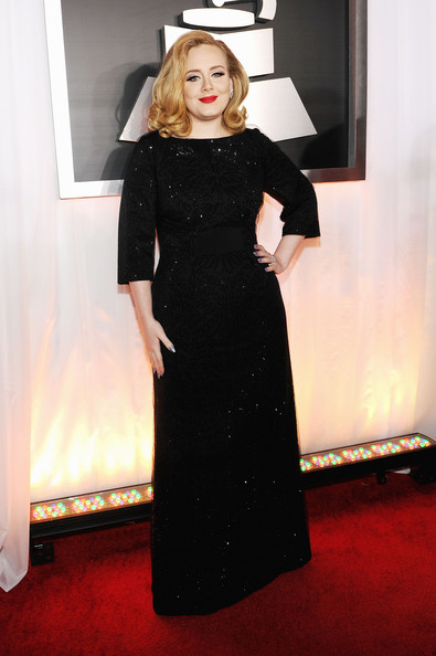 Singer Adele arrives at the 54th Annual GRAMMY Awards held at Staples Center on February 12, 2012 in Los Angeles, California.