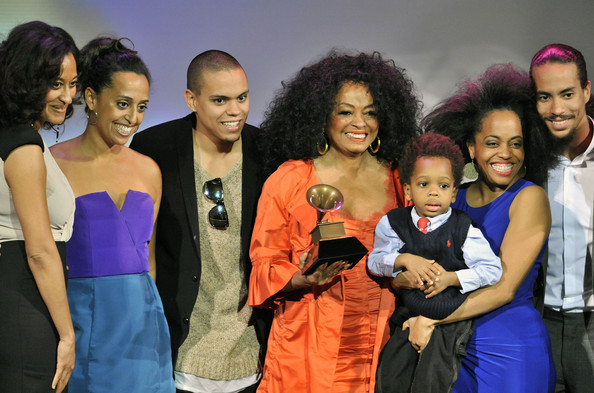 Diana Ross recieves her award at the 54th Annual Grammy Special Merit Awards at The Wilshire Ebell Theatre on February 11, 2012 in Los Angeles, California.