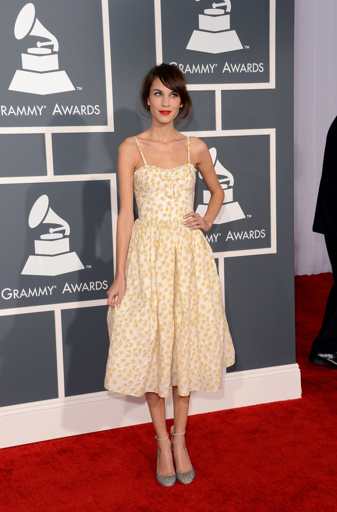 Alexa+Chung in The 55th Annual GRAMMY Awards - Arrivals