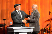 Actors LL Cool J and Samuel L. Jackson attend the 55th Annual Women's Guild Cedars-Sinai Gala  held on November 13, 2012 in Beverly Hills, California.