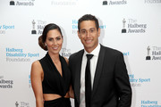 Ross Taylor and Victoria Brown pose as they arrive ahead of the 55th Halberg Awards at Spark Arena on February 8, 2018 in Auckland, New Zealand.