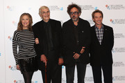 (L-R) Actress Catherine O'Hara, actor Martin Landau, filmmaker Tim Burton and actor Martin Short pose at the 'Frankenweenie 3D' photocall at the Corinthia Hotel London which, later tonight, opens the 56th BFI London Film Festival at Odeon Leicester Square on October 10, 2012 in London, England.