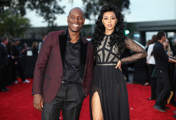 Musicial artists Tyrese Gibson and Kristal Lyndriette attends the 56th GRAMMY Awards at Staples Center on January 26, 2014 in Los Angeles, California.