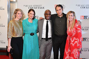 """(L-R) Sara Murphy, Adele Romanski, Barry Jenkins, Jeremy Kleiner, and Dede Gardner attend the U.S. premiere of """"If Beale Street Could Talk"""" during the 56th New York Film Festival at The Apollo Theater on October 09, 2018 in New York City."""
