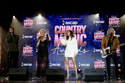 (L-R) Jimi Westbrook, Kimberly Schlapman, Karen Fairchild and Phillip Sweet of musical group Little Big Town perform onstage during the 57th Annual ASCAP Country Music Awards on November 11, 2019 in Nashville, Tennessee.