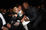 Madonna and Jamie Foxx spread the love. - The Best After-Party Pics from the 2015 Grammys