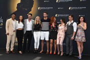 (L-R) Rome Flynn,Reign Edwards,Don Diamont,Katherine Kelly Lang,Pierson Fode,Courtney Hope,Jacqueline MacInnes Wood,Darin Brooks and Heather Tom from 'The bold and The beautiful' attend a photocall during the 57th Monte Carlo TV Festival : Day 3 on June 18, 2017 in Monte-Carlo, Monaco.