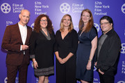 """John Waters, producer Julie Goldman, director Ivy Meeropool, producer Carolyn Hepburn and producer Chris Clements attend the 57th New York Film Festival - """"Bully. Coward. Victim"""" at Walter Reade Theater on September 29, 2019 in New York City."""
