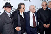 """Joe Pesci, Al Pacino,  Martin Scorsese, and Harvy Keitel attend """"The Irishman"""" screening during the 57th New York Film Festival at Alice Tully Hall, Lincoln Center on September 27, 2019 in New York City."""