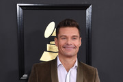 Ryan Seacrest arrives for the 59th Grammy Awards pre-telecast on February 12, 2017, in Los Angeles, California.  / AFP / Mark RALSTON