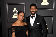 Musician Fonzworth Bentley (R) and Faune A. Chambers attend The 59th GRAMMY Awards at STAPLES Center on February 12, 2017 in Los Angeles, California.
