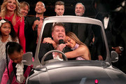 (L-R) Blue Ivy Carter, Guest, Faith Hill, Keith Urban, John Legend, GRAMMY host James Corden,  Ryan Tedder of OneRepublic, Jennifer Lopez and Neil Diamond during The 59th GRAMMY Awards at STAPLES Center on February 12, 2017 in Los Angeles, California.