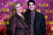 Julie James and Darren Criss attend the 5th Annual Elsie Fest: Broadway's Outdoor Music Festival on October 05, 2019 in New York City.