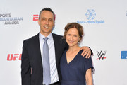 Jimmy Pitaro and Jean Louisa Kelly attend the 5th annual Sports Humanitarian Awards presented by ESPN at The Novo Theater at L.A. Live on July 09, 2019 in Los Angeles, California.