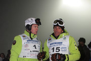 Prince Albert II of Monaco (L) and Paolo De Chiesa (R) attend the 5th World Stars Ski Event in Sestriere on March 20, 2010 in Turin, Italy.