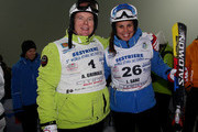 Prince Albert II of Monaco (L) and Laia Sanz (R) attend the 5th World Stars Ski Event in Sestriere on March 20, 2010 in Turin, Italy.