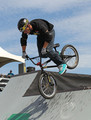 Ryan Nyquist, of San Jose, California, performs during the Park Finals of the 6.0 BMX Open at Soldier Field on July 24, 2010 in Chicago, Illinois.