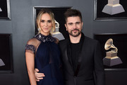 Actor Karen Martinez (L) and recording artist Juanes attend the 60th Annual GRAMMY Awards at Madison Square Garden on January 28, 2018 in New York City.