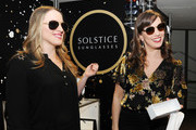 Actors Abby Mueller (L) and Kara Lindsay attends the GRAMMY Gift Lounge during the 60th Annual GRAMMY Awards at Madison Square Garden on January 25, 2018 in New York City.