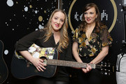 Actors Abby Mueller (L) and Kara Lindsay attend the GRAMMY Gift Lounge during the 60th Annual GRAMMY Awards at Madison Square Garden on January 25, 2018 in New York City.