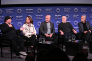 (L-R) David Wild, writer/producer GRAMMY Awards, Chantel Sausedo, talent producer GRAMMY Awards, Jack Sussman, executive vice president Specials, Music and Live Events CBS Entertainment, Ken Ehrlich, executive producer GRAMMY Awards, Neil Portnow, President and CEO The Recording Academy attend GRAMMY Museum Program Panel Discussion for the 60th Annual GRAMMY Awards at The Paley Center For Media on January 22, 2018 in New York City.