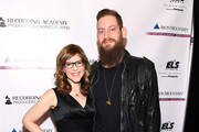 Musician Lisa Loeb and Roey Hershkovitz attend the Producers and Engineers Wing 11th Annual GRAMMY Week Event Honoring Swizz Beatz And Alicia Keys at The Rainbow Room on January 25, 2018 in New York City.