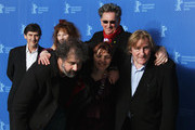 (L-R back row) Producer Jean-Pierre Guerin, actress Yolande Moreau and director Benoit Delepine, (first row) director Gustave de Kervern, actress Miss Ming and actor Gerard Depardieu attend the 'Mammuth' Photocall during day nine of the 60th Berlin International Film Festival at the Grand Hyatt Hotel on February 19, 2010 in Berlin, Germany.