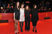 (L-R) Actresses Rebecca Hall, Amanda Peet, director Nicole Holofcener and actress Catherine Keener attend the 'Please Give' Premiere during day six of the 60th Berlin International Film Festival at the Berlinale Palast on February 16, 2010 in Berlin, Germany.