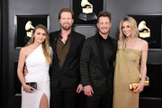 (L-R) Brittney Marie Cole, Brian Kelley and Tyler Hubbard of Florida Georgia Line, and Hayley Stommel Hubbard attend the 61st Annual GRAMMY Awards at Staples Center on February 10, 2019 in Los Angeles, California.