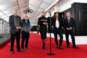 (L-R) President of The Recording Academy Neil Portnow, Executive producer Ken Ehrlich, Alicia Keys, Grammys Talent Producer Chantel Saucedo, and Executive Vice President, Specials, Music and Live Events, CBS Entertainment Jack Sussman attend the 61st Annual GRAMMY Awards Red Carpet Roll Out and Preview Day during the 61st Annual GRAMMY Awards at Staples Center on February 07, 2019 in Los Angeles, California.